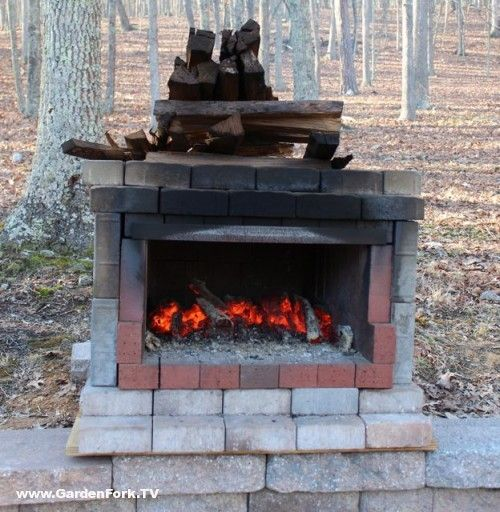 Outdoor Brick Oven Plans I Like The Simple Design It Makes Me