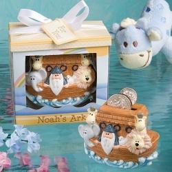 noah 39 s ark baby shower bank favors christian baby gifts pinterest