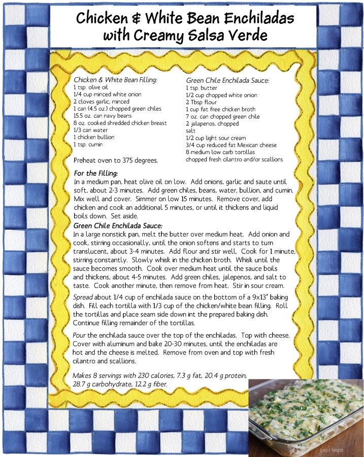 Chicken and White Bean Enchiladas with Creamy Salsa Verde | Recipe