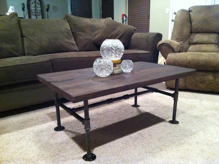 DIY industrial/rustic coffee table | Craft Ideas | Pinterest