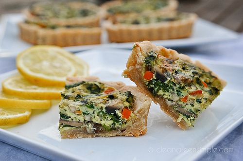 Vegetable Tofu Quiche (Vegan, Gluten Free, Refined Sugar Free)
