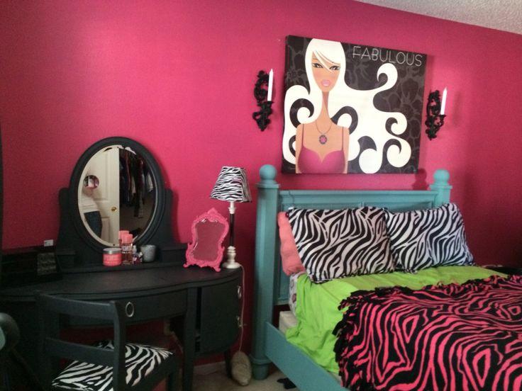 Teenage Girl Bedroom Pink Zebra Kids Bedroom Pinterest