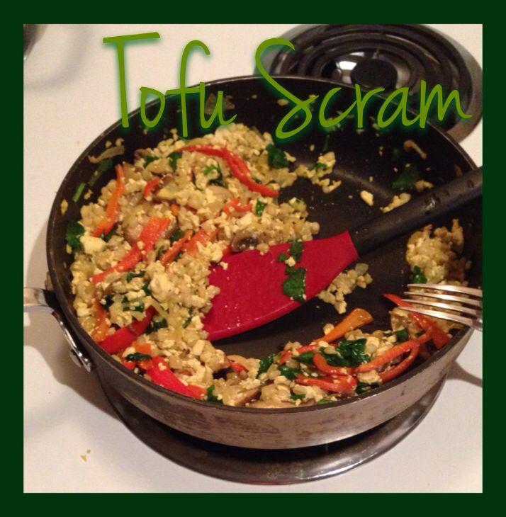 Tofu scramble w turmeric n curry. Add coconut milk to enhance creamy ...