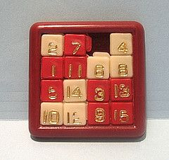 sliding number puzzle - loved these!