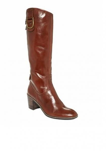 Unique Women Ladies Studded Leather Tall Cowboy Boots Western Riding Biker
