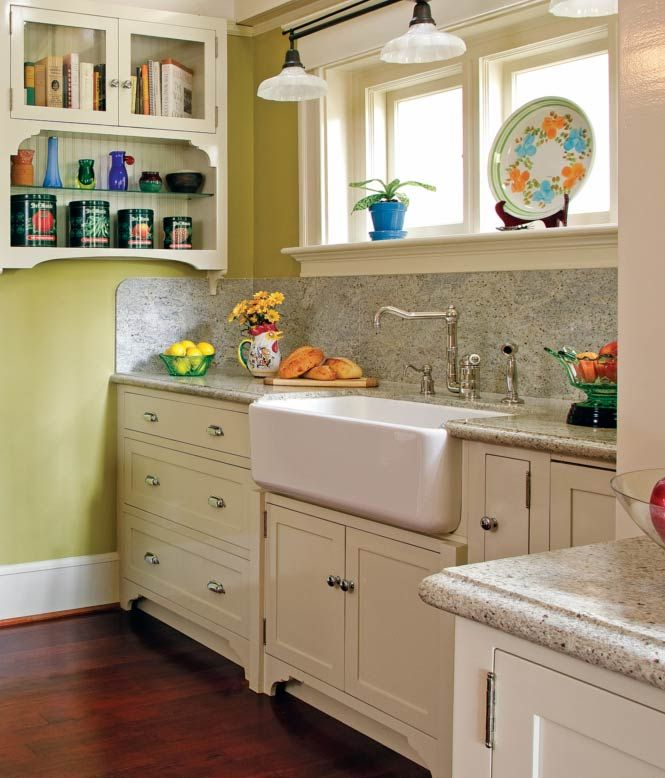 Love the sink for our dream home to come pinterest for Bungalow style kitchen