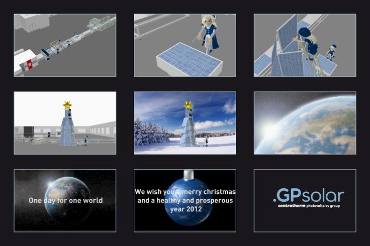 GP Solar Weihnachtsanimation 3D Rendering