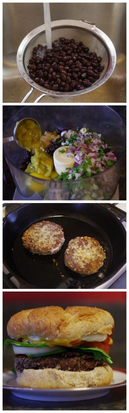 Homemade Black Bean Veggie Burgers Recipe — Dishmaps