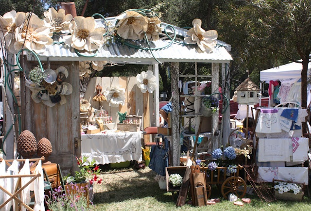 Photo Courtesy of Elderberry Street: Vintage Marketplace 2012 .. Becky of Whimsies Set Up was above and beyone awesome !