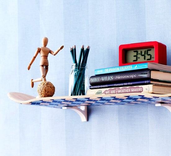 skateboard shelf for the home pinterest. Black Bedroom Furniture Sets. Home Design Ideas