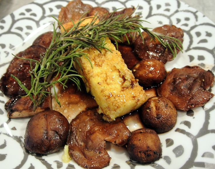 Fried Polenta with Wild Mushrooms | Food and Drink | Pinterest
