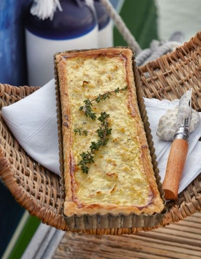 Vogue French onion and thyme tart | CREACIONES CULINARIAS | Pinterest