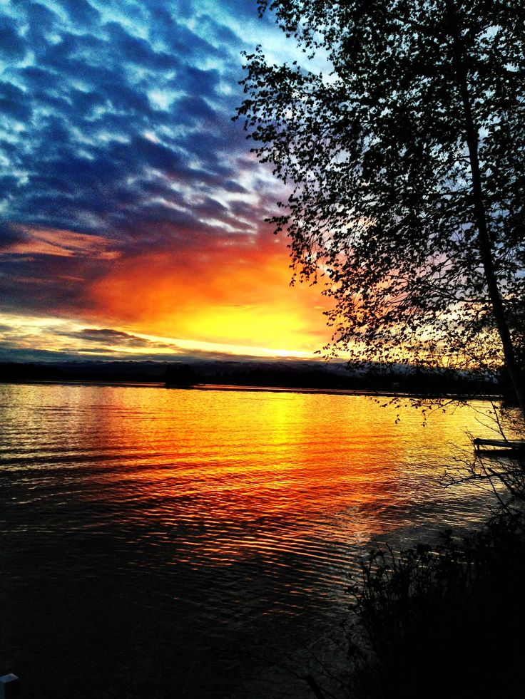 Sunrise at Big Lake, Anchorage Alaska  Anchorage, AK  Pinterest