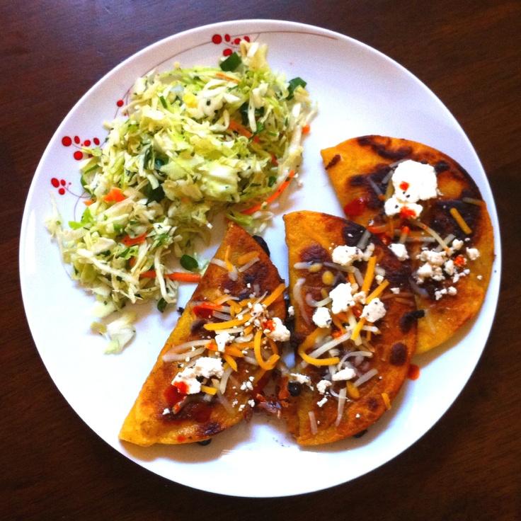 Crispy Black Bean Tacos with Feta & Cabbage Slaw Recipe - ZipList