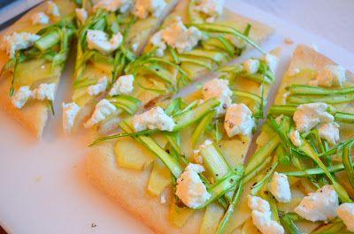 Asparagus-and-Potato Flatbread | Yummy Food Stuffs | Pinterest