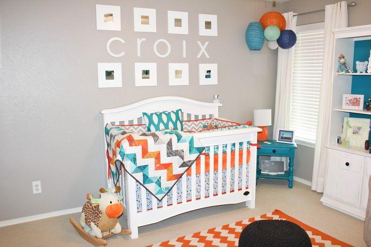 Orange Teal Grey Nursery When I Have Kiddos Ender