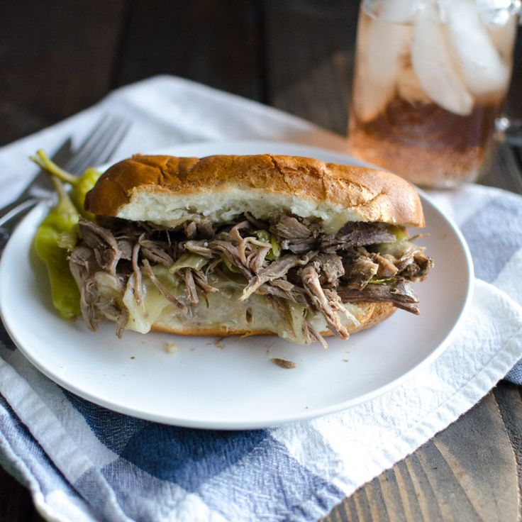Slow-Cooker Italian Beef Sandwiches or Pepperoncini Beef | Oh So ...