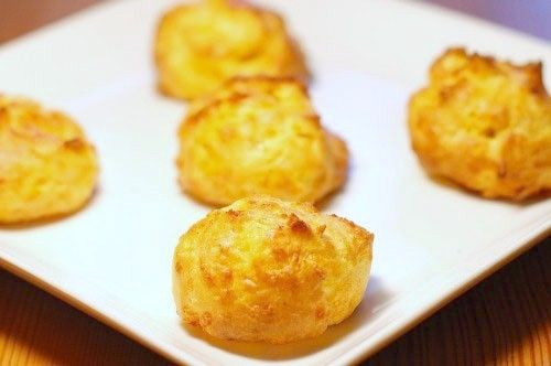 Cheddar Puffs - like a cross between a popover and a savory cream puff ...