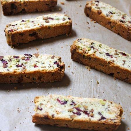 Pistachio, Raspberry, And White Chocolate Biscotti Recipe ...