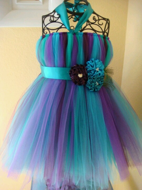 peacock purple amp turquoise flower girl dress my flower