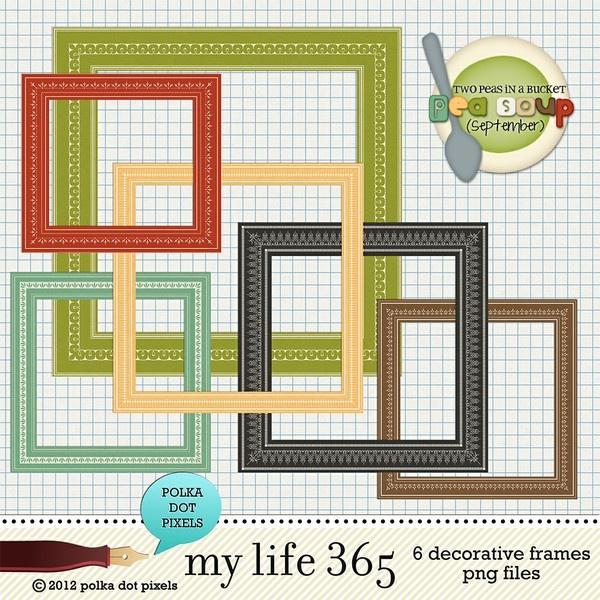pea soup september - my life 365 - decorative frames by Polka Dot ...