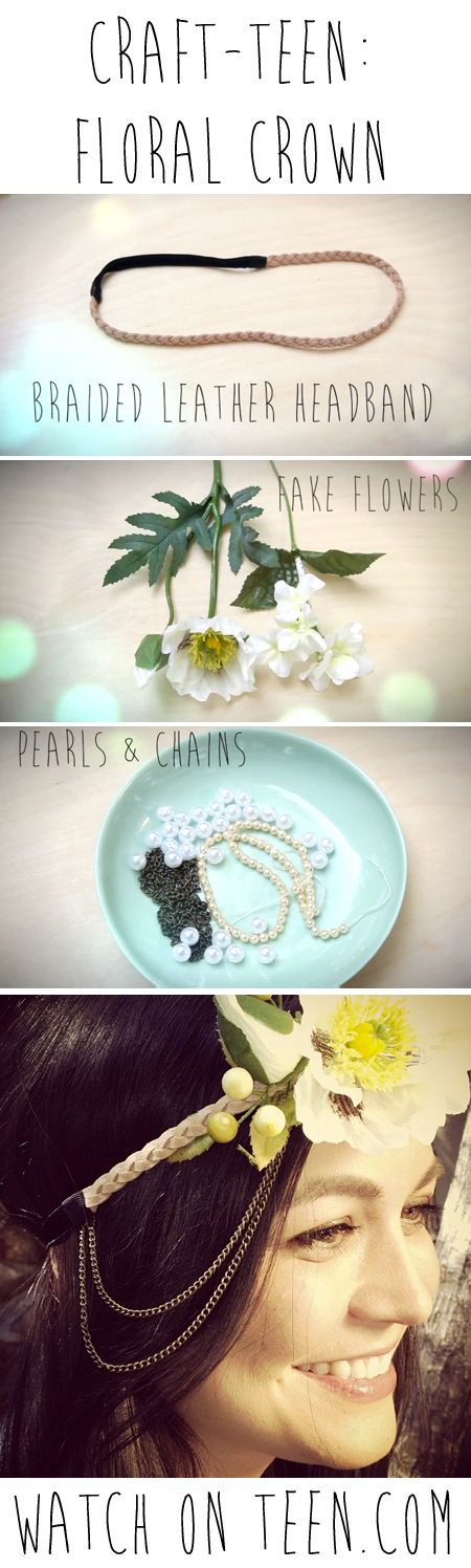 DIY Flower Crown Headband. Braided headband and jewelry huh? i'll try it =]