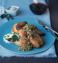 ROASTED CORNISH HENS WITH TOASTED BREAD CRUMB SALSA (joanneweir.com)