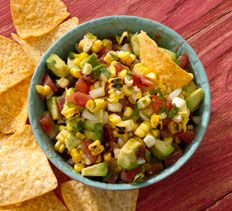 Appetizers and Snacks - Grilled Corn and Tomato Salsa