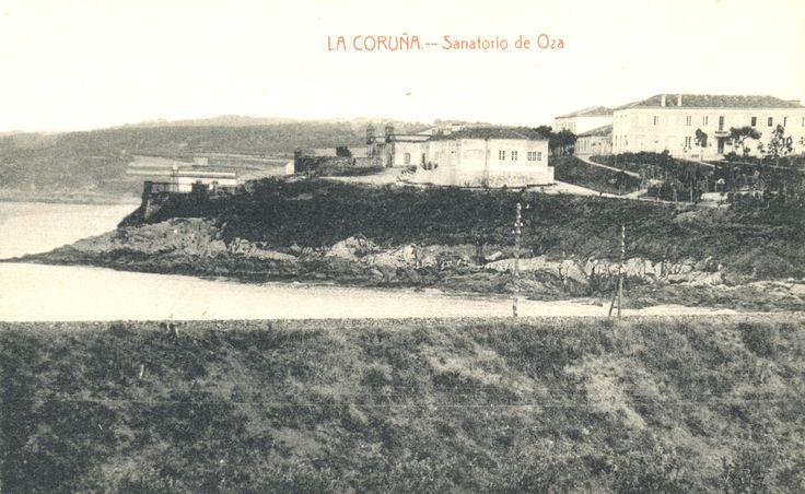 Os pavillóns do Sanatorio de Oza. Tarxeta postal