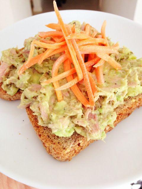 Avocado Tuna Salad •1 pouch tuna •1/2 ripe avocado, mashed (you ...