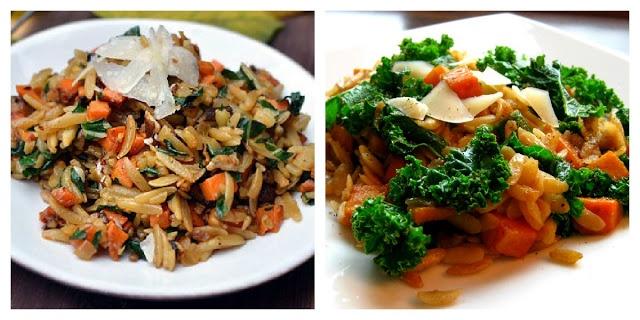 Karis' Kitchen: Orzo with Sweet Potatoes & Kale