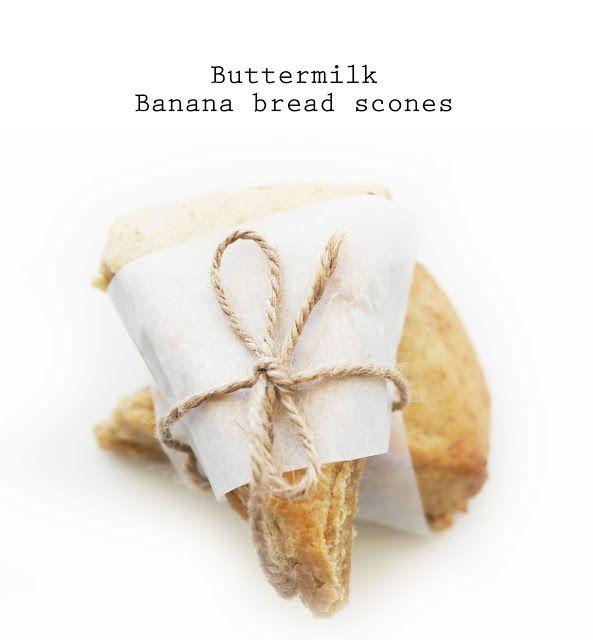 Buttermilk Banana Bread Scones!!