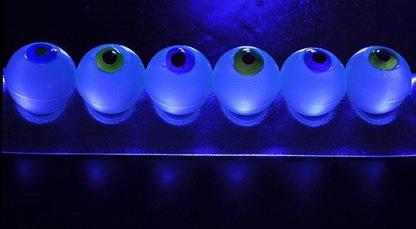 Glow-in-the-Dark Eyeball Jelly Shots – modify to whipped cream vodka shots with