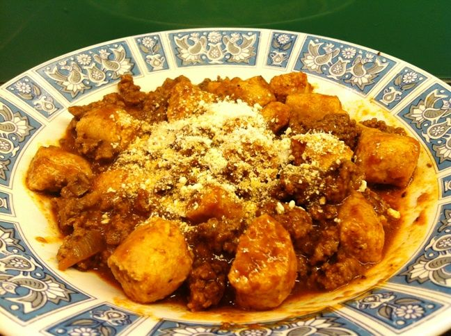 ... meat sauce spaghetti squash with meat sauce gnocchi with quick meat