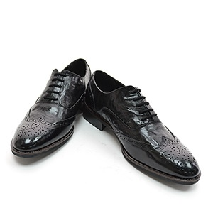 CHSH017-BLACK) Casual Leather Shoes