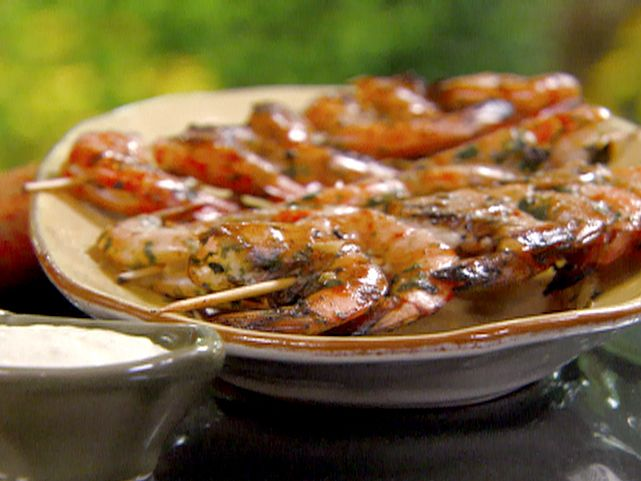 marinated grilled shrimp cocktail with citrus aioli....I've made this ...