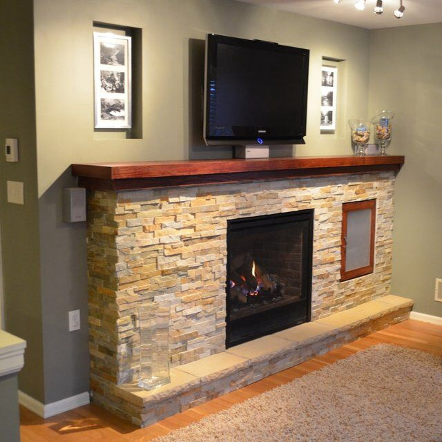 fireplace mantel with tv above fireplace ideas pinterest. Black Bedroom Furniture Sets. Home Design Ideas