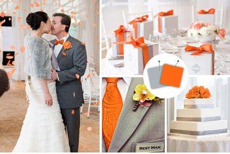 Pumpkin amp slate gray wedding color combinations pinterest