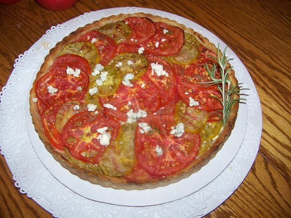 of Julienne Tomatoes in Petoskey, created this simple tomato tart ...