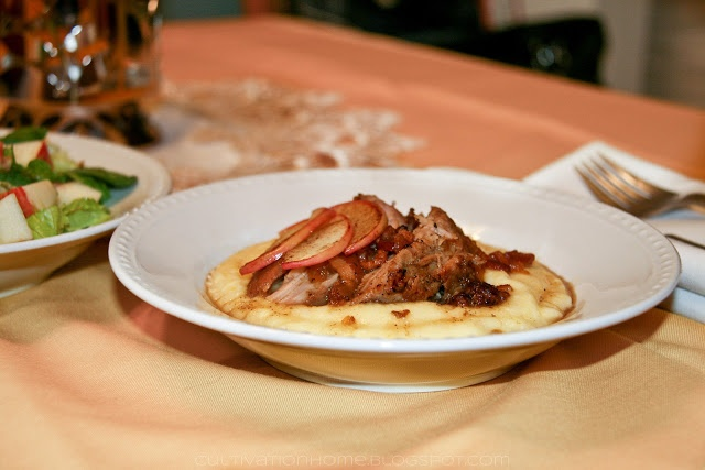 Rustic Braised Pork Shoulder with Apples   Slow Cooking   Pinterest