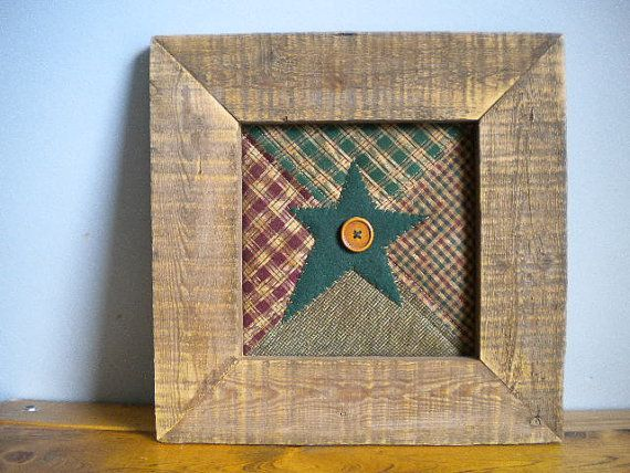 Rustic Home Decor Primitive Wall Hanging Framed