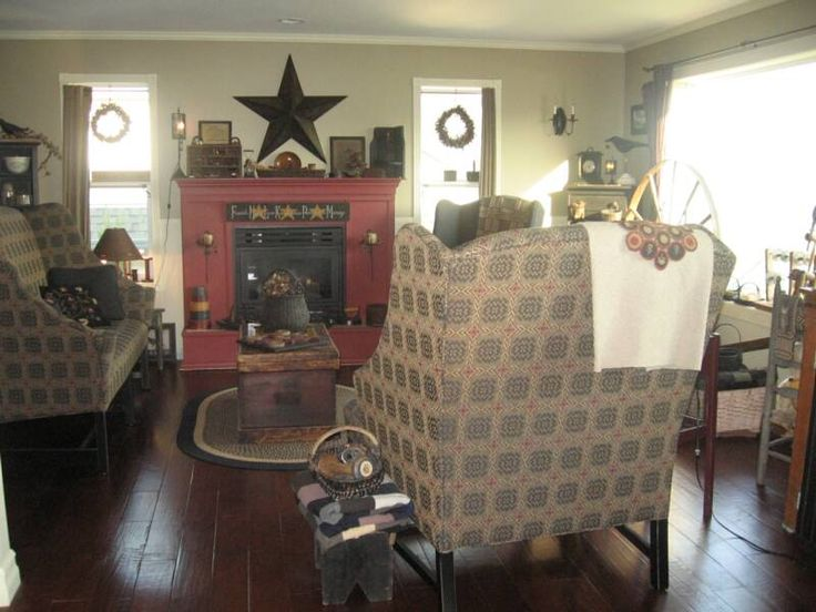 Country living room ideas for the house pinterest for Primitive country living room ideas
