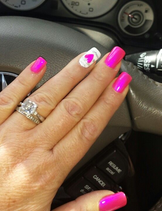valentine's day nails tutorial