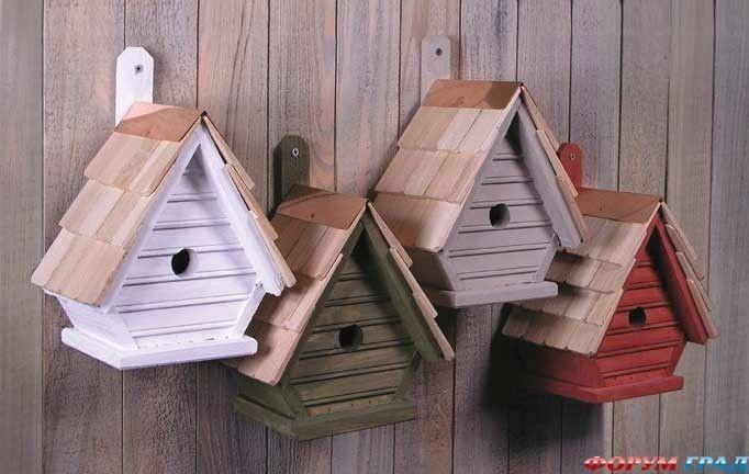 Кормушка для птиц домиком своими руками