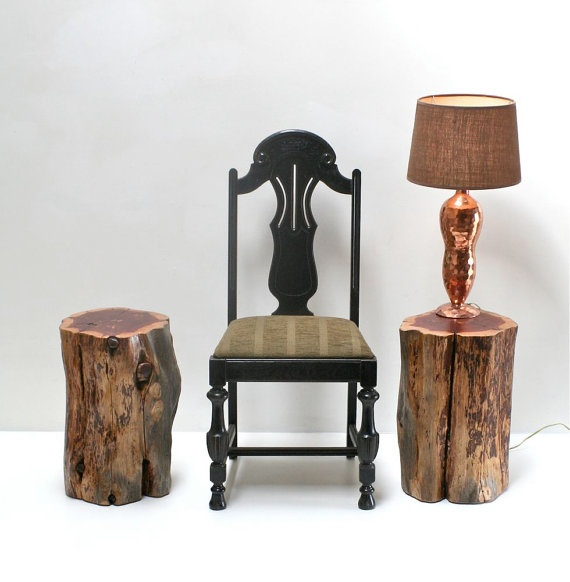Expertly Natural Tree Stump Wood Tablestool Introduction