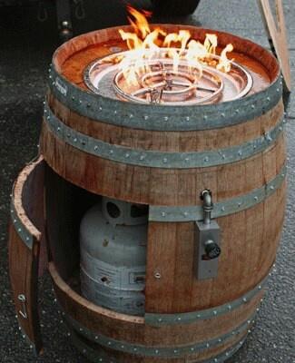 Wine Barrel Fire Pit Fire Pit Pinterest