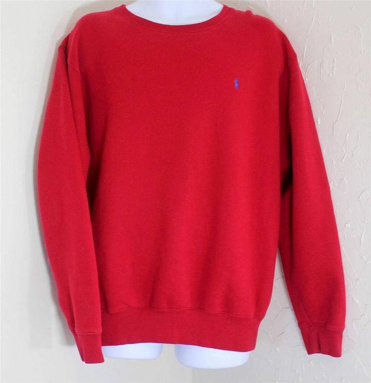 polo ralph lauren mens large crewneck sweatshirt l red euc. Black Bedroom Furniture Sets. Home Design Ideas