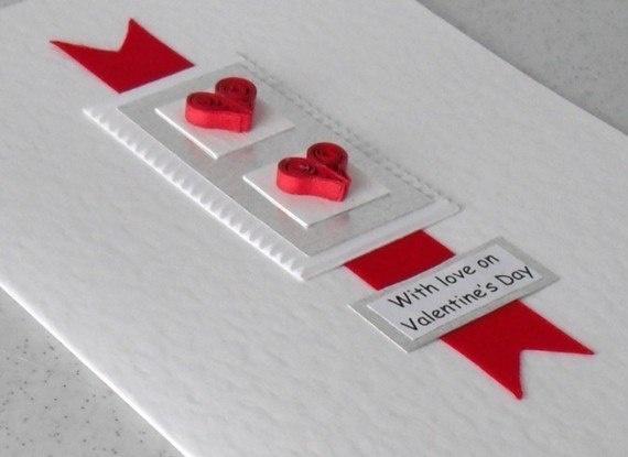 valentine cards quilling