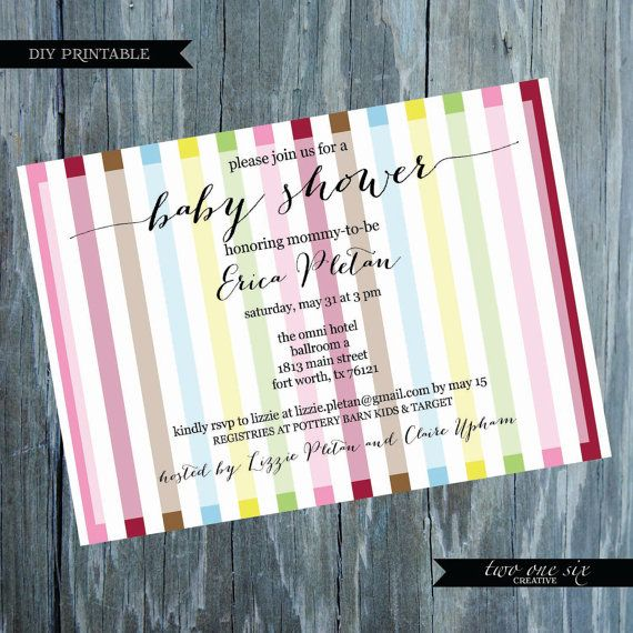 kate spade inspired baby shower invitation printable baby shower in