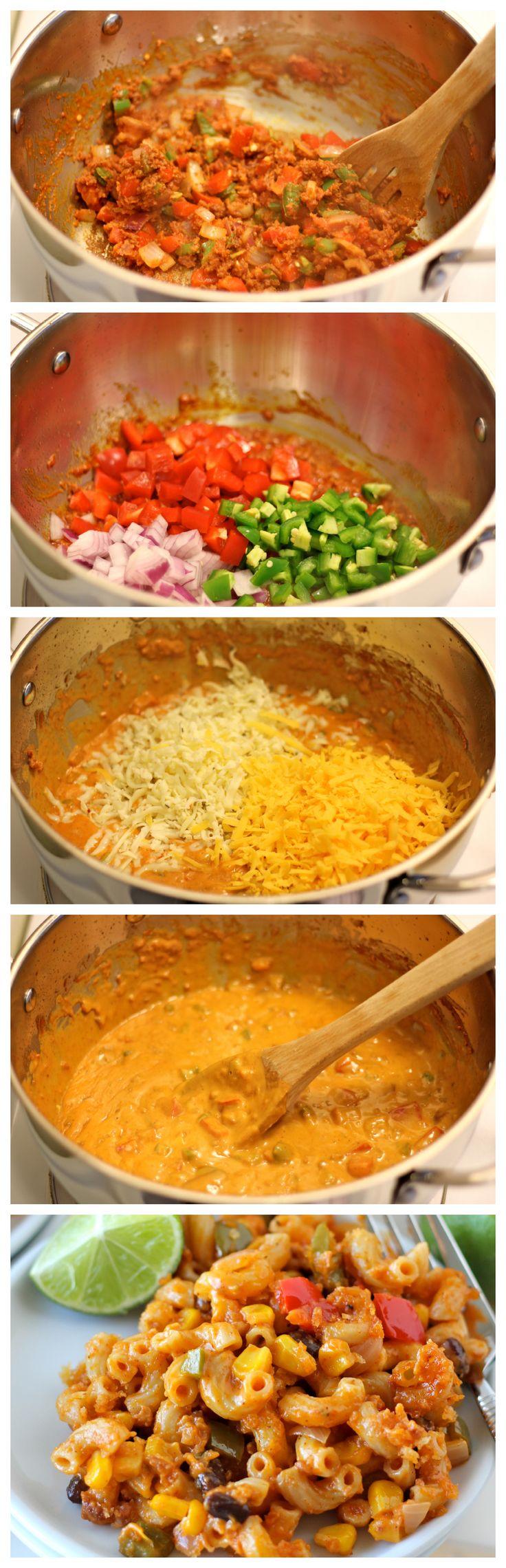 Chorizo Mac and Cheese - A fun tex-mex twist on the traditional mac ...